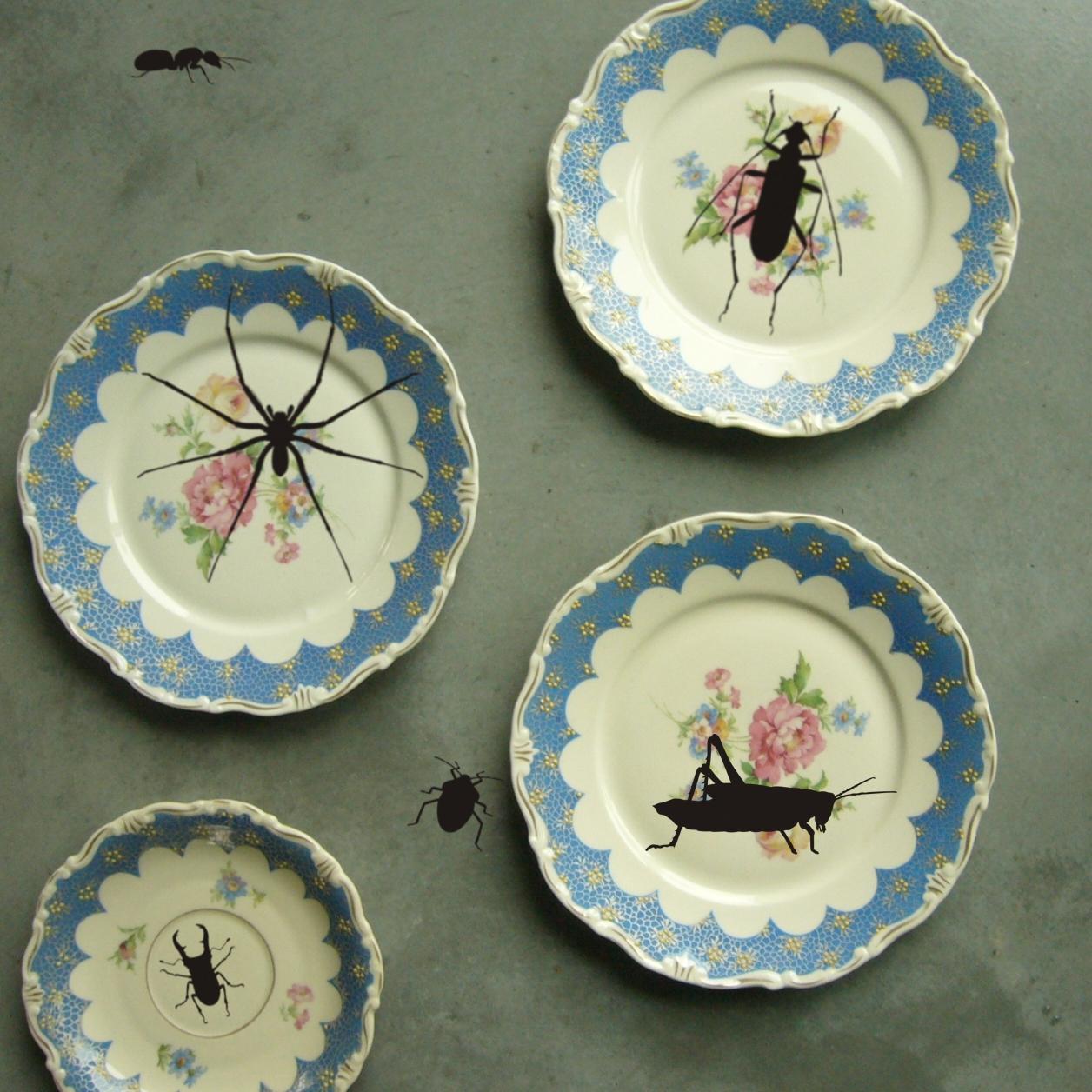 Insektenaufkleber für Teller