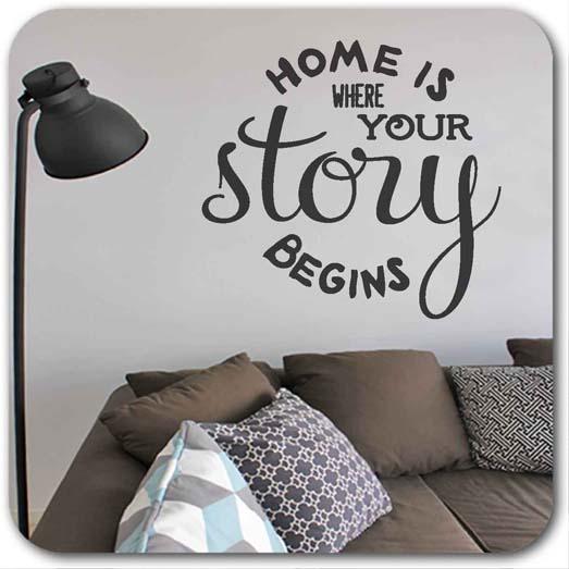 Wandtattoo Home is where...