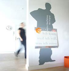 Silbensalon Display für WandTattoos