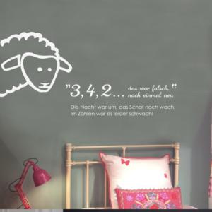 Schlafschaf Aufkleber für Kinderzimmerwände