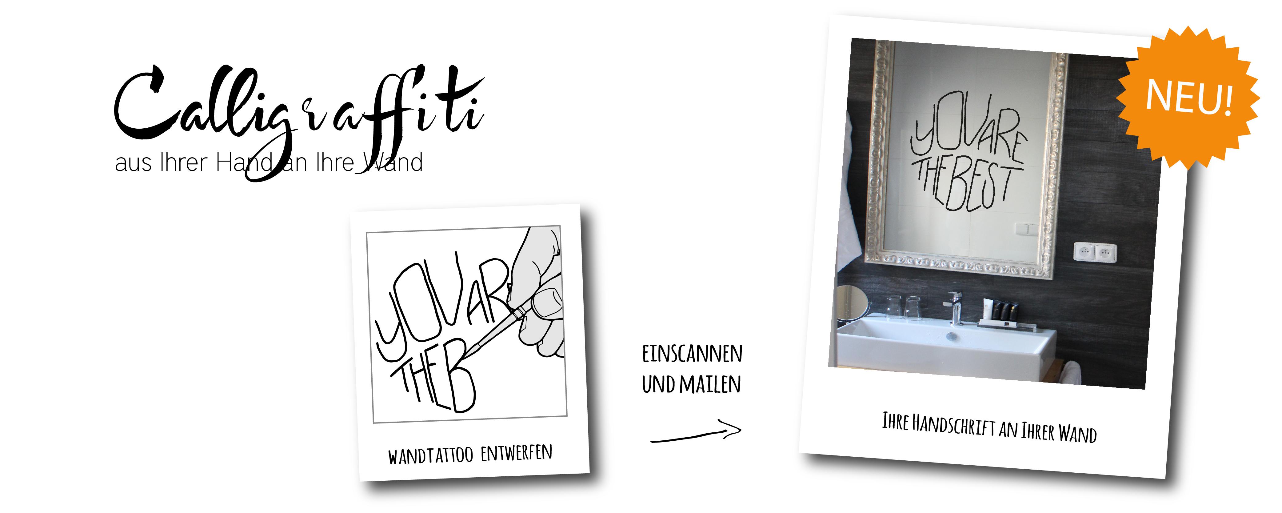 Calligraffiti Ihre Handschrift als WandTattoo