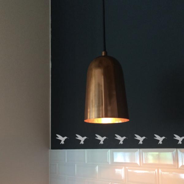 Kolibriaufkleber als Bordüre
