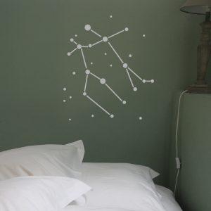 Sternzeichen Zwilling Wandaufkleber
