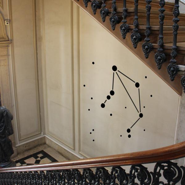Wandsticker Waage mit Sternkreiszeichen