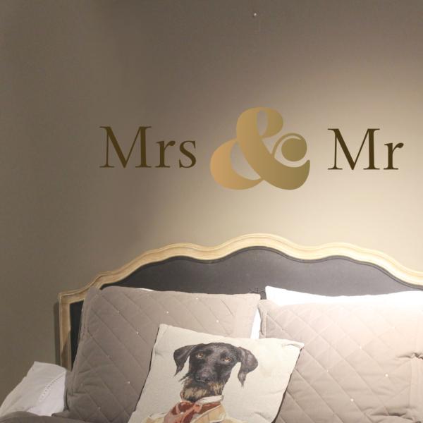 Aufkleber für Mr & Mrs
