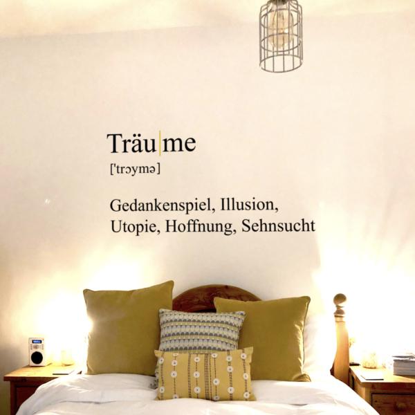 WandTattoo Träume Definition fürs Schlafzimmer
