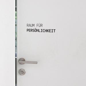 Tür Aufkleber Raum für Persönlichkeit