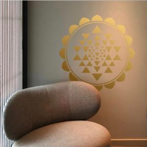 Shri Yantra Mandala zum Aufkleben