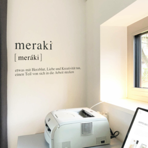 meraki Definition Wandaufkleber