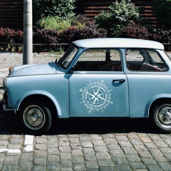 Kompass Windrose als Autoaufkleber