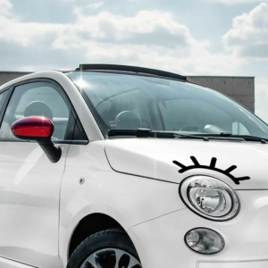 Wimpern für das Auto als Aufkleber