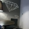 WandDiamanten, Aufkleber für Wände mit Bling