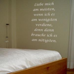 Wandtattoo Liebe Schlafzimmer Schlafen Betthaupt schlafen ...