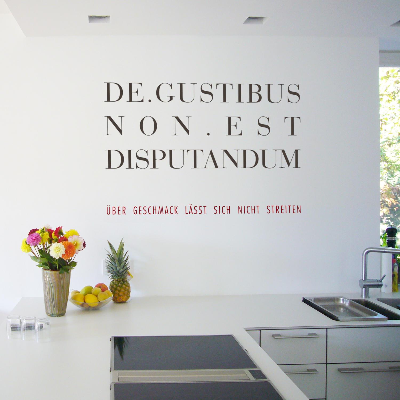 wandtattoo de gustibus non est disputandum silbensalon. Black Bedroom Furniture Sets. Home Design Ideas