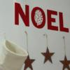 NOEL Weihnachtskleber mit Tannenzapfen