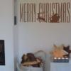 WeihnachtswandTattoo mit Schlitten